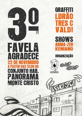 flyer 3º favela agradece